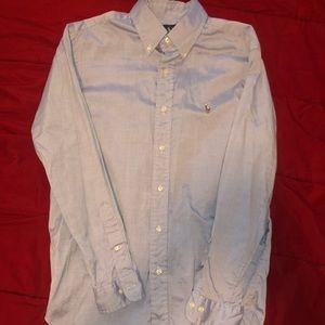 Light Blue Polo Button Down Dress Shirt